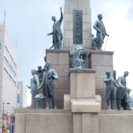 アミュプラザ・若き薩摩の群像